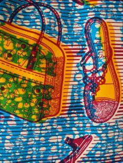 アフリカンプリントバッグ